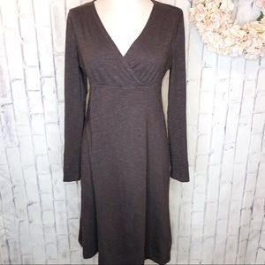 Horny Toad brown empire waist jersey dress